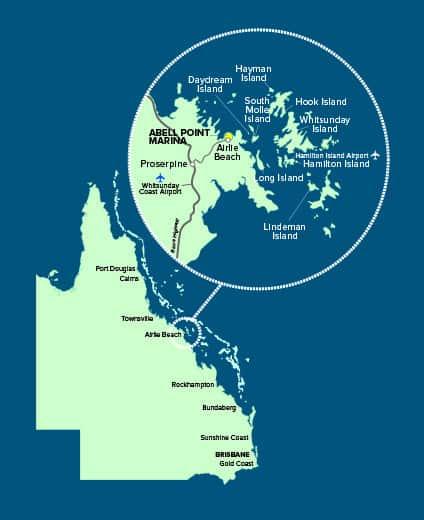 Whitsundays Location Map