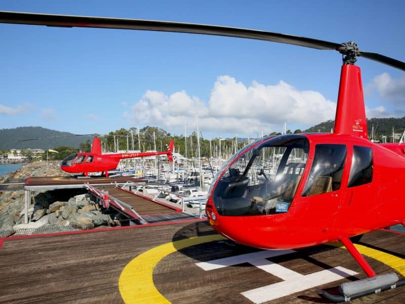 Private Helipads in the marina