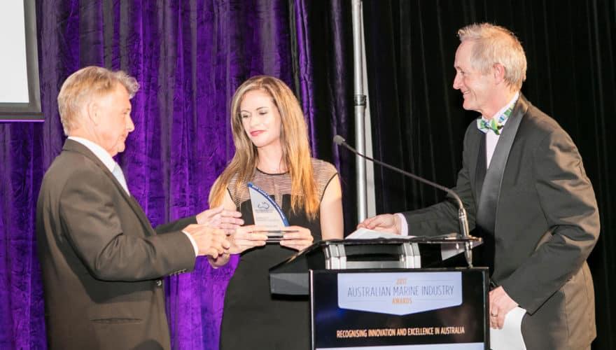 Paul Darrouzet accepting award at the ASMEX Industry Awards