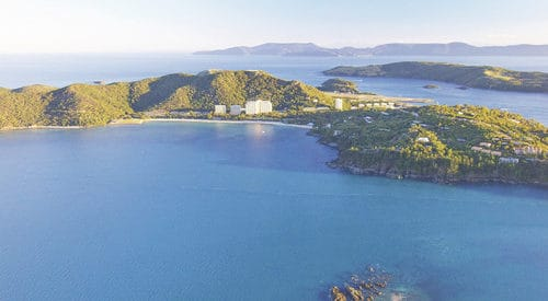 Aerial of Fitzalan Passage, Hamilton Island and Catseye Beach