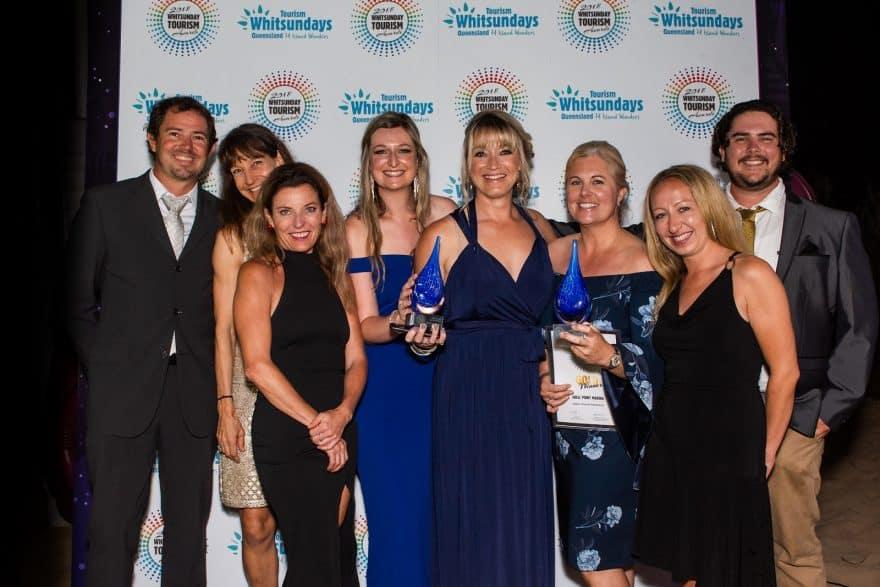 Coral Sea Marina staff members at the Whitsunday Tourism Awards 2018