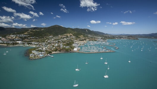Aerial of Coral Sea Marina