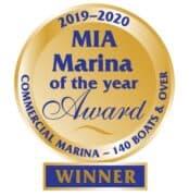 Marina of the Year Award 2019 - 2020 - Commercial Marina 140 boats and over