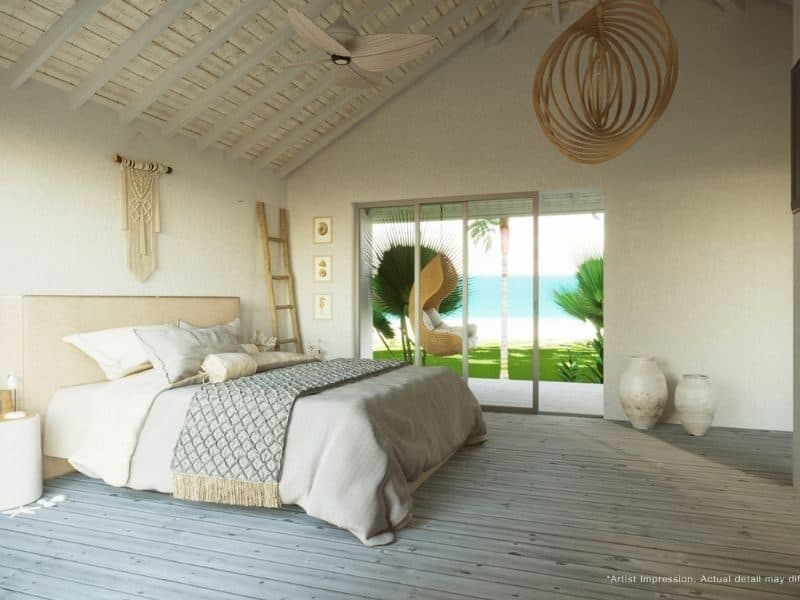 A private beach villa at Elsyian Retreat, on Long Island in the Whitsundays